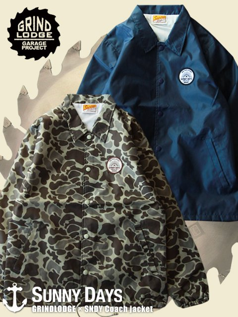 GRINDLODGE × SNDY Coach jacket (Men's) 2カラー<img class='new_mark_img2' src='//img.shop-pro.jp/img/new/icons16.gif' style='border:none;display:inline;margin:0px;padding:0px;width:auto;' />