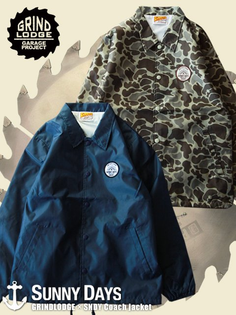 GRINDLODGE × SNDY Coach jacket (Lady's) 2カラー<img class='new_mark_img2' src='//img.shop-pro.jp/img/new/icons16.gif' style='border:none;display:inline;margin:0px;padding:0px;width:auto;' />