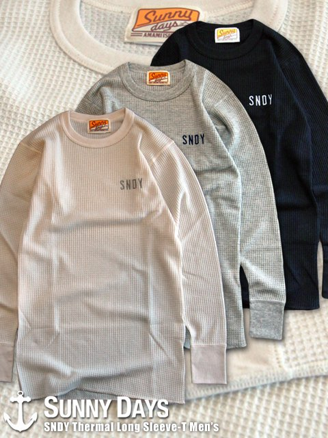SNDY Thermal Long Sleeve-T (Men's) 3カラー<img class='new_mark_img2' src='//img.shop-pro.jp/img/new/icons16.gif' style='border:none;display:inline;margin:0px;padding:0px;width:auto;' />