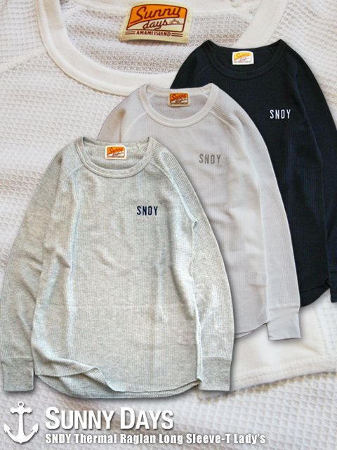 SNDY Thermal Raglan Long Sleeve-T (Lady's) 3カラー
