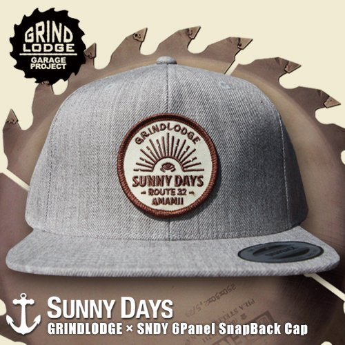 GRINDLODGE × SNDY 6Panel SnapBack Cap 3カラー<img class='new_mark_img2' src='//img.shop-pro.jp/img/new/icons14.gif' style='border:none;display:inline;margin:0px;padding:0px;width:auto;' />