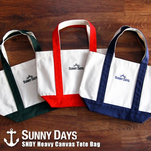SNDY Heavy Canvas Tote Bag  3カラー