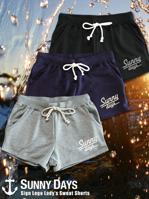 Sign Logo Sweat Shorts (Lady's) 3カラー
