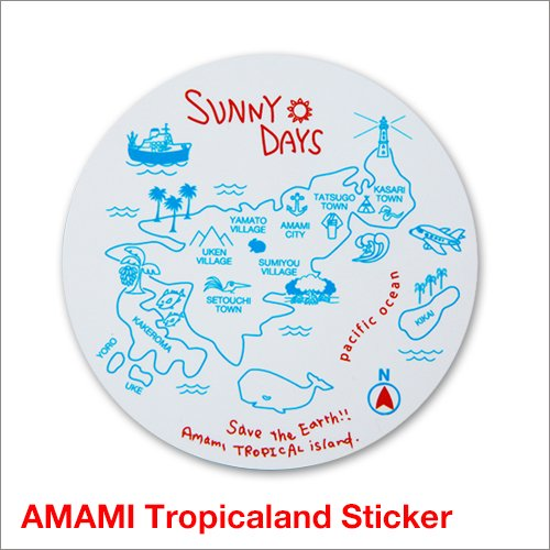 Amami Tropicaland Sticker<img class='new_mark_img2' src='https://img.shop-pro.jp/img/new/icons57.gif' style='border:none;display:inline;margin:0px;padding:0px;width:auto;' />