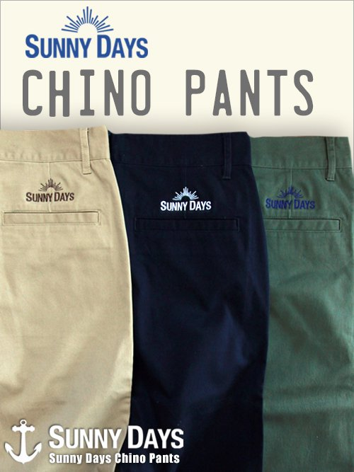 Sunny Days Chino pants (Unisex) 3カラー<img class='new_mark_img2' src='https://img.shop-pro.jp/img/new/icons16.gif' style='border:none;display:inline;margin:0px;padding:0px;width:auto;' />