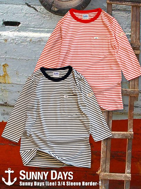 SNDY (Lee) 3/4 Sleeve Border Pocket-T (Lady's) 2カラー