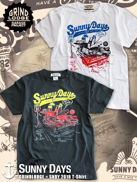 GRINDLODGE × SNDY 2018 T-shirt (Men's) 2カラー