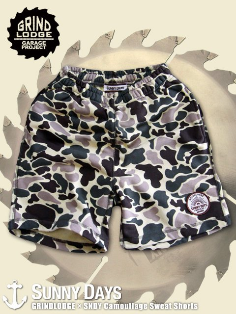 GRINDLODGE × SNDY Camouflage Sweat Shorts (Unisex) 1カラー