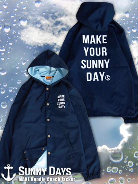 MAKE Hoodie Coach Jacket (Unisex) 2カラー<img class='new_mark_img2' src='https://img.shop-pro.jp/img/new/icons16.gif' style='border:none;display:inline;margin:0px;padding:0px;width:auto;' />