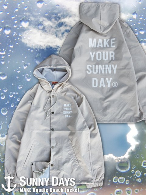 MAKE Hoodie Coach Jacket (Lady's) 2カラー<img class='new_mark_img2' src='https://img.shop-pro.jp/img/new/icons16.gif' style='border:none;display:inline;margin:0px;padding:0px;width:auto;' />