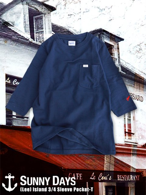 (Lee) Island 3/4 Sleeve Pocket-T (Lady's) 2カラー<img class='new_mark_img2' src='https://img.shop-pro.jp/img/new/icons14.gif' style='border:none;display:inline;margin:0px;padding:0px;width:auto;' />