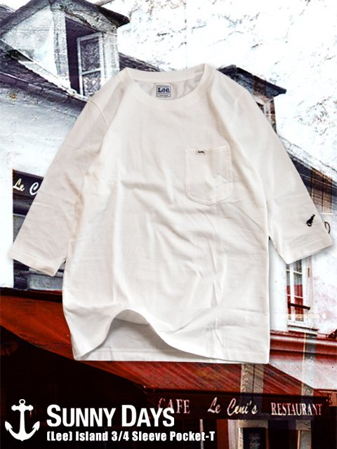 (Lee) Island 3/4 Sleeve Pocket-T (Unisex) 2カラー<img class='new_mark_img2' src='https://img.shop-pro.jp/img/new/icons14.gif' style='border:none;display:inline;margin:0px;padding:0px;width:auto;' />