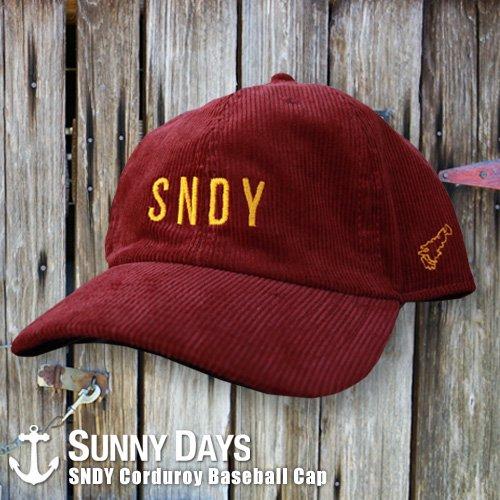 SNDY Corduroy Baseball CAP 3カラー