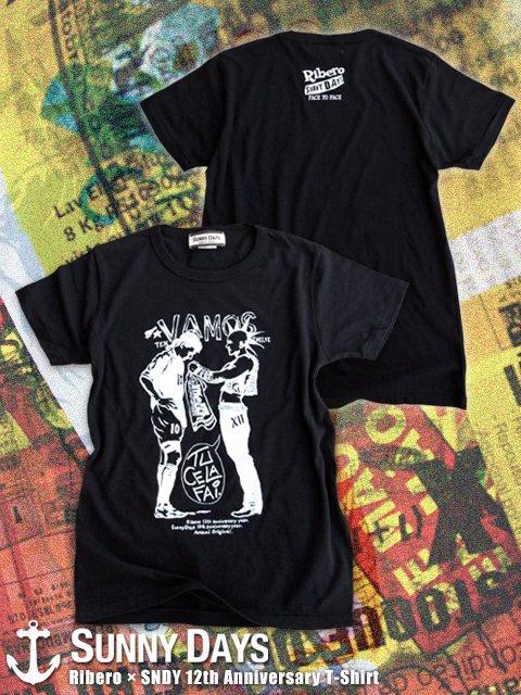 Ribero × SNDY 12th Anniversary T-shirt (Lady's) 2カラー