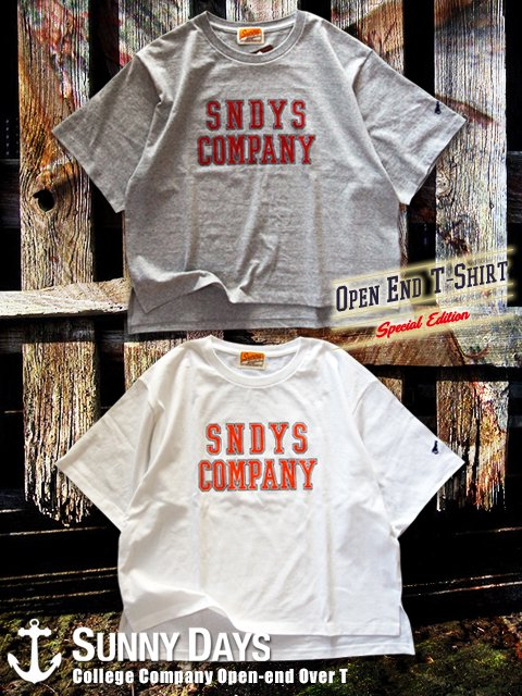 College Company Openend Over T-Shirt (Lady's) 2カラー