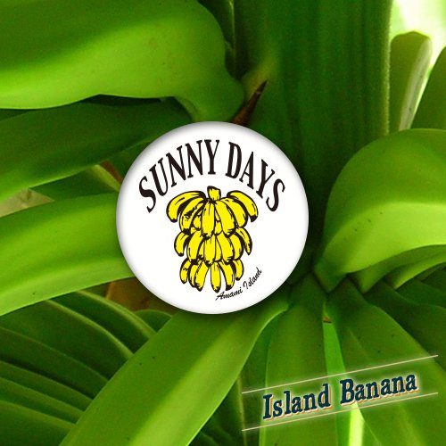 Island Banana Can Badge
