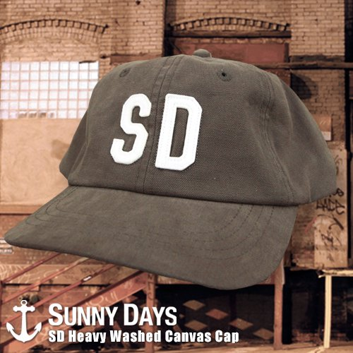 SD Heavy Washed Canvas Cap 3カラー
