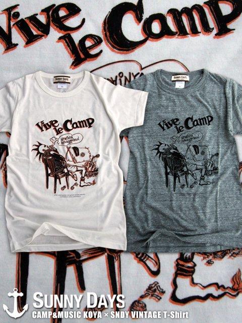 CAMP&MUSIC KOYA × SNDY VINTAGE T-shirt (Unisex) 2カラー