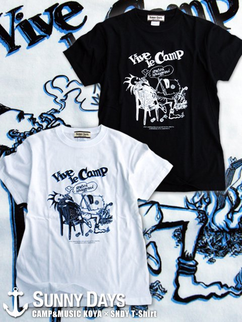 CAMP&MUSIC KOYA × SNDY T-shirt (Men's/Unisex) 2カラー