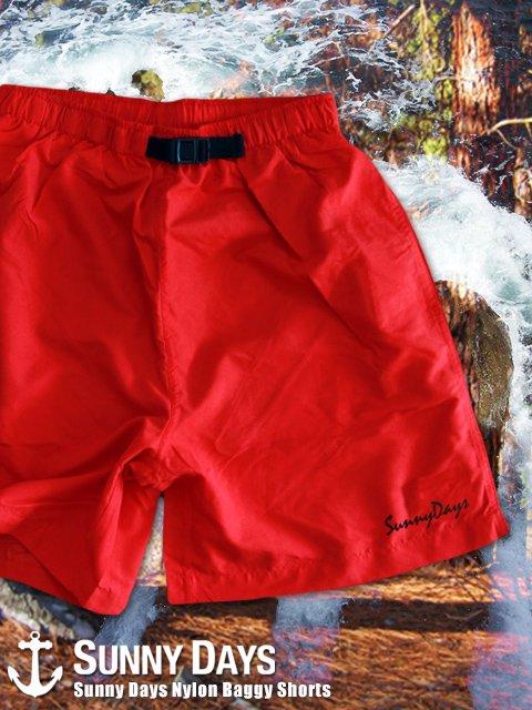 Sunny Days Nylon Baggy Shorts (Unisex) 5カラー