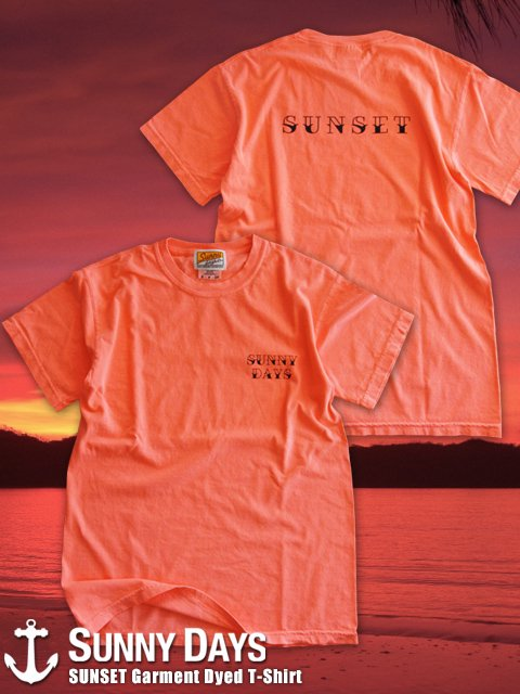 SUNSET Garment Dyed T-Shirt (Unisex) 1カラー<img class='new_mark_img2' src='//img.shop-pro.jp/img/new/icons14.gif' style='border:none;display:inline;margin:0px;padding:0px;width:auto;' />