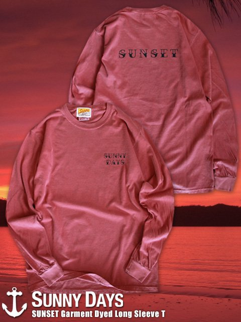 SUNSET Garment Dyed Long Sleeve T-Shirt (Unisex) 1カラー