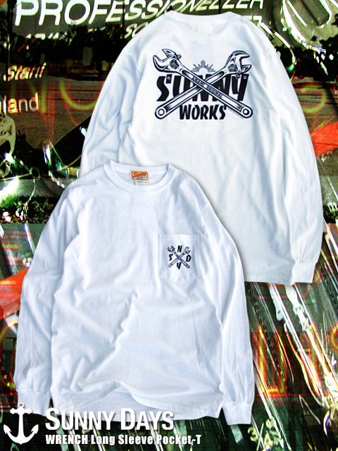 WRENCH Long Sleeve Pocket-T (Men's) ホワイト