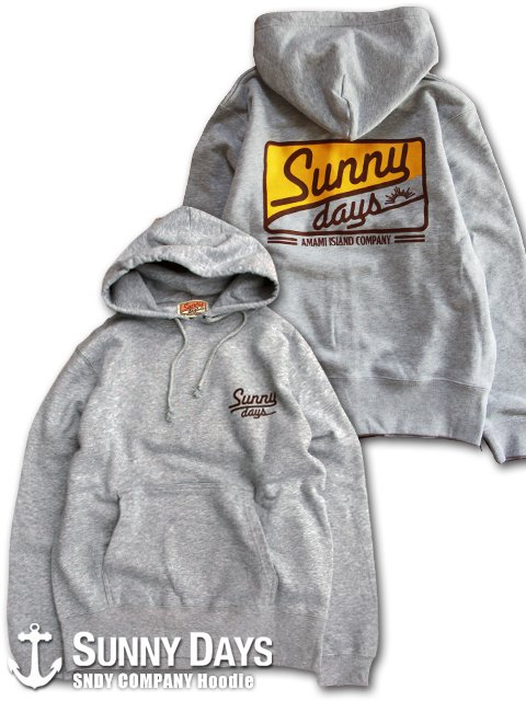 SNDY COMPANY Hoodie (Unisex)ヘザーグレー<img class='new_mark_img2' src='//img.shop-pro.jp/img/new/icons14.gif' style='border:none;display:inline;margin:0px;padding:0px;width:auto;' />
