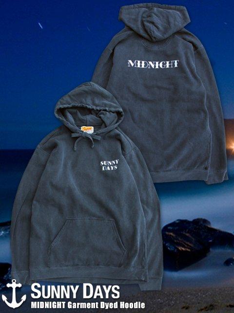 MIDNIGHT Garment Dyed Hoodie (Unisex) ブラック