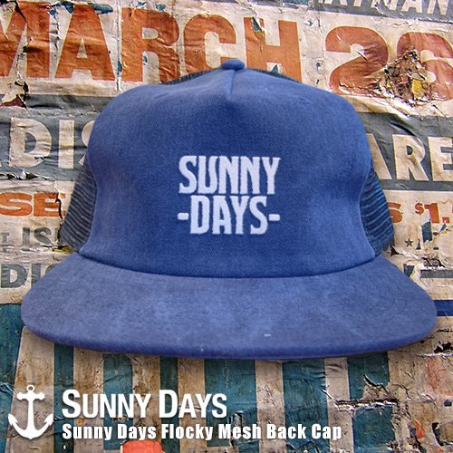 Sunny Days Flocky Mesh Back Cap 3カラー<img class='new_mark_img2' src='https://img.shop-pro.jp/img/new/icons14.gif' style='border:none;display:inline;margin:0px;padding:0px;width:auto;' />