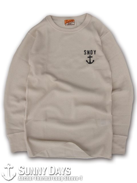 Anchor Thermal Long Sleeve-T (Unisex) ナチュラル<img class='new_mark_img2' src='https://img.shop-pro.jp/img/new/icons14.gif' style='border:none;display:inline;margin:0px;padding:0px;width:auto;' />