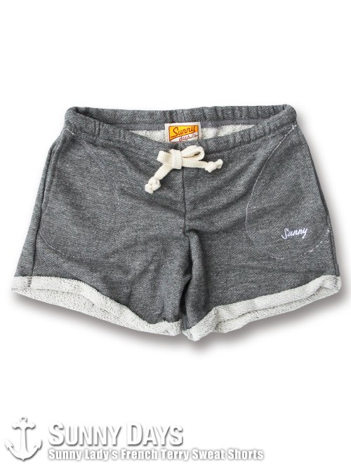 Sunny Lady's Sweat Shorts (Lady's) ヘザーグレー<img class='new_mark_img2' src='https://img.shop-pro.jp/img/new/icons14.gif' style='border:none;display:inline;margin:0px;padding:0px;width:auto;' />
