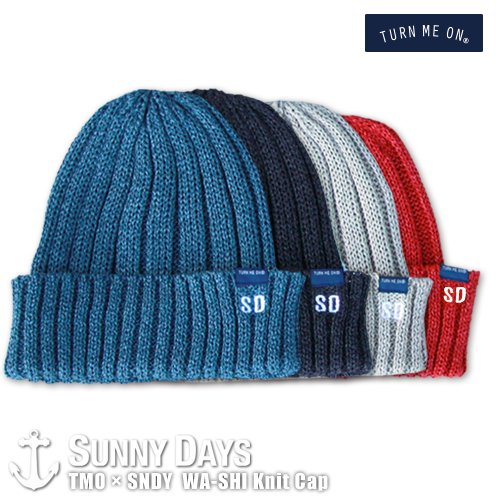 TURN ME ON × SNDY  和紙 Knit Cap 4カラー<img class='new_mark_img2' src='https://img.shop-pro.jp/img/new/icons14.gif' style='border:none;display:inline;margin:0px;padding:0px;width:auto;' />