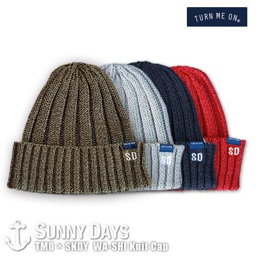 TURN ME ON × SNDY  和紙 Knit Cap 4カラー