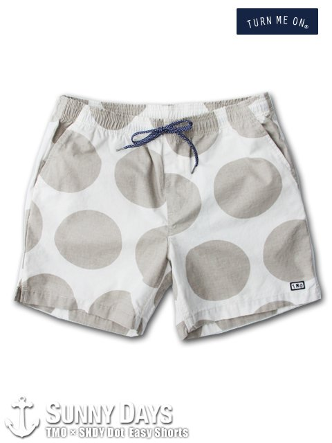 TURN ME ON × SNDY Dot Easy Shorts (Men's) ホワイト