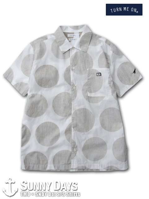 TURN ME ON × SNDY Dot S/S Shirts (Men's) ホワイト