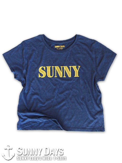 SUNNY Lady's wide T-Shirt (Lady's) ヘザーネイビー<img class='new_mark_img2' src='https://img.shop-pro.jp/img/new/icons14.gif' style='border:none;display:inline;margin:0px;padding:0px;width:auto;' />