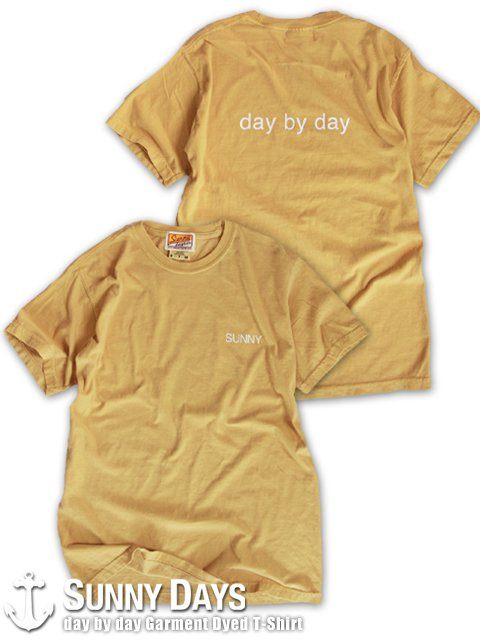 day by day Garment Dyed T-Shirt (Unisex) イエロー<img class='new_mark_img2' src='https://img.shop-pro.jp/img/new/icons14.gif' style='border:none;display:inline;margin:0px;padding:0px;width:auto;' />