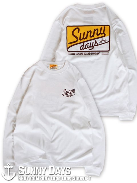 SNDY COMPANY Long Sleeve T (Unisex) ホワイト