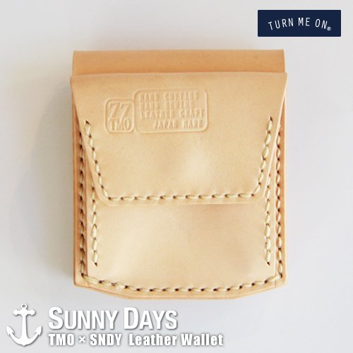 TURN ME ON × SNDY  Leather Wallet  ナチュラル<img class='new_mark_img2' src='https://img.shop-pro.jp/img/new/icons57.gif' style='border:none;display:inline;margin:0px;padding:0px;width:auto;' />