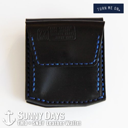 TURN ME ON × SNDY  Leather Wallet  ブラック