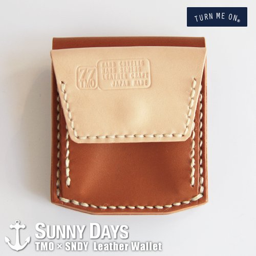 TURN ME ON × SNDY  Leather Wallet  ライトブラウン<img class='new_mark_img2' src='https://img.shop-pro.jp/img/new/icons57.gif' style='border:none;display:inline;margin:0px;padding:0px;width:auto;' />