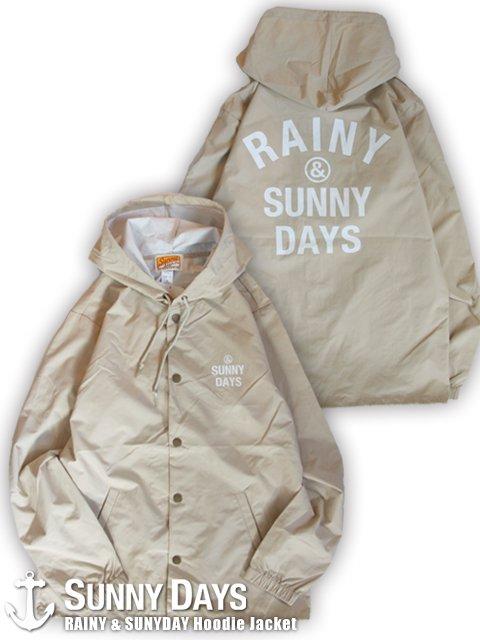RAINY & SUNNYDAYS Hoodie Jacket (Unisex) サンドカーキ
