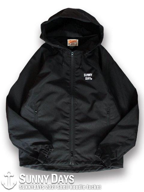 (2月初旬再入荷予定)SUNNYDAYS 2021 Shell Hoodie Jacket (Unisex) ブラック<img class='new_mark_img2' src='https://img.shop-pro.jp/img/new/icons14.gif' style='border:none;display:inline;margin:0px;padding:0px;width:auto;' />