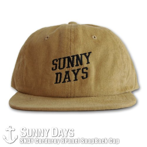 SNDY Corduroy SnapBack Cap キャメル<img class='new_mark_img2' src='https://img.shop-pro.jp/img/new/icons24.gif' style='border:none;display:inline;margin:0px;padding:0px;width:auto;' />