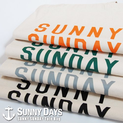 SUNNY SUNDAY Tote Bag 4カラー<img class='new_mark_img2' src='https://img.shop-pro.jp/img/new/icons14.gif' style='border:none;display:inline;margin:0px;padding:0px;width:auto;' />