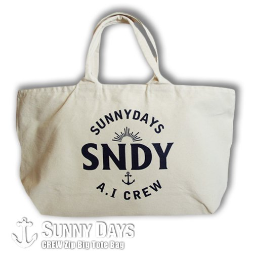 CREW Big Size Zip Tote Bag ナチュラル<img class='new_mark_img2' src='https://img.shop-pro.jp/img/new/icons57.gif' style='border:none;display:inline;margin:0px;padding:0px;width:auto;' />