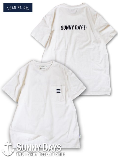 TURN ME ON × Sunny Days Pocket T-Shirt (Unisex) ホワイト