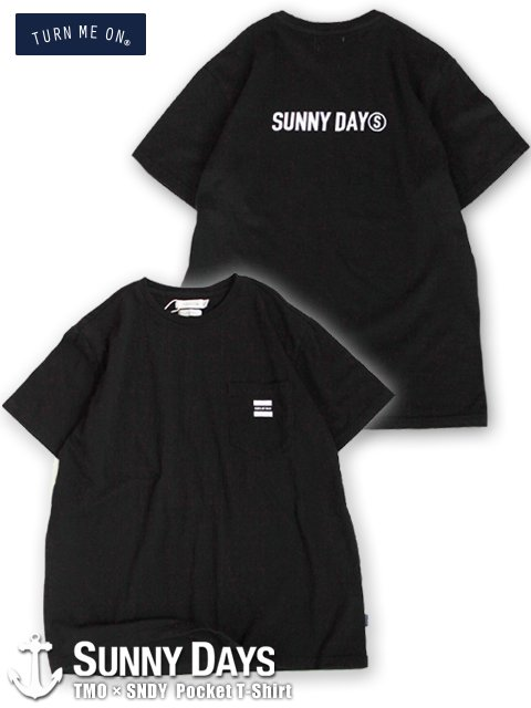 TURN ME ON × Sunny Days Pocket T-Shirt (Unisex) ブラック
