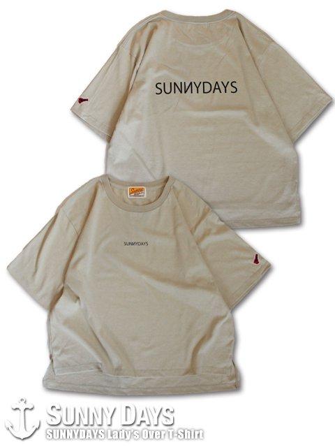 SUNNYDAYS Lady's Over T-Shirt (Lady's) サンドベージュ<img class='new_mark_img2' src='https://img.shop-pro.jp/img/new/icons57.gif' style='border:none;display:inline;margin:0px;padding:0px;width:auto;' />